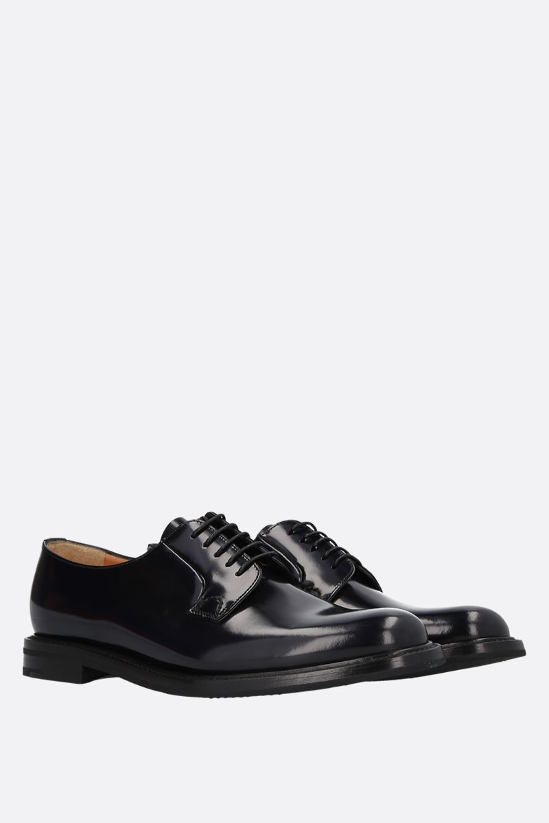 CHURCH'S: Shannon derby shoes in brushed calf Colore Nero_2