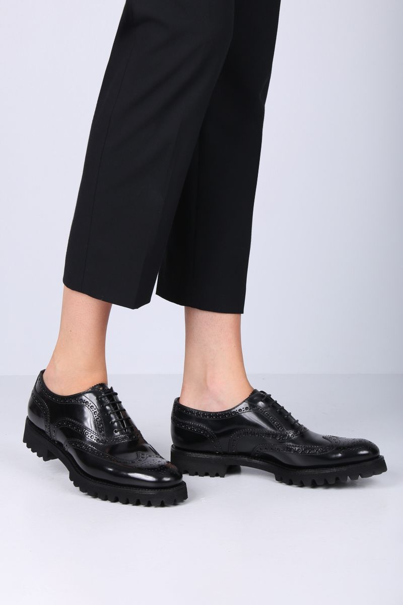 CHURCH'S: Carla oxford shoes in brushed calf Color Black_2