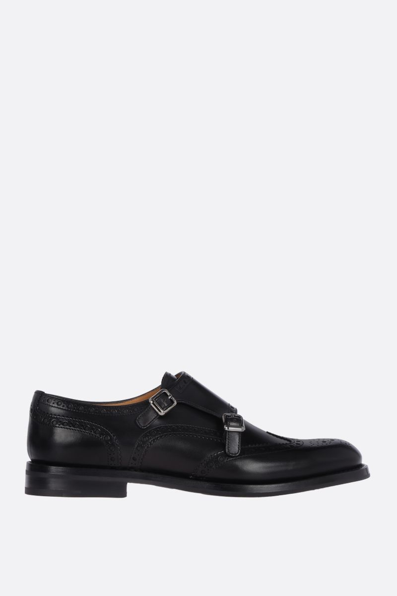 CHURCH'S: Lana monk strap shoes in brushed calf Color Black_1