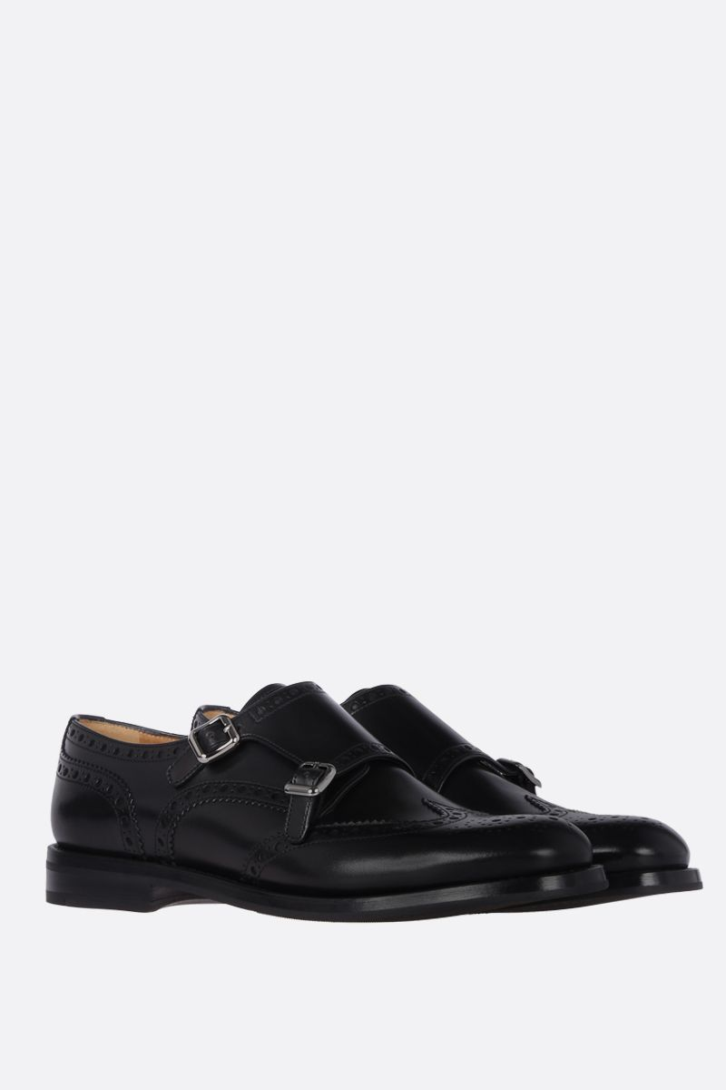 CHURCH'S: Lana monk strap shoes in brushed calf Color Black_2