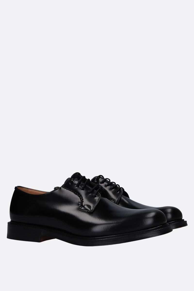 CHURCH'S: Shannon derby shoes in brushed calf Color Black_2