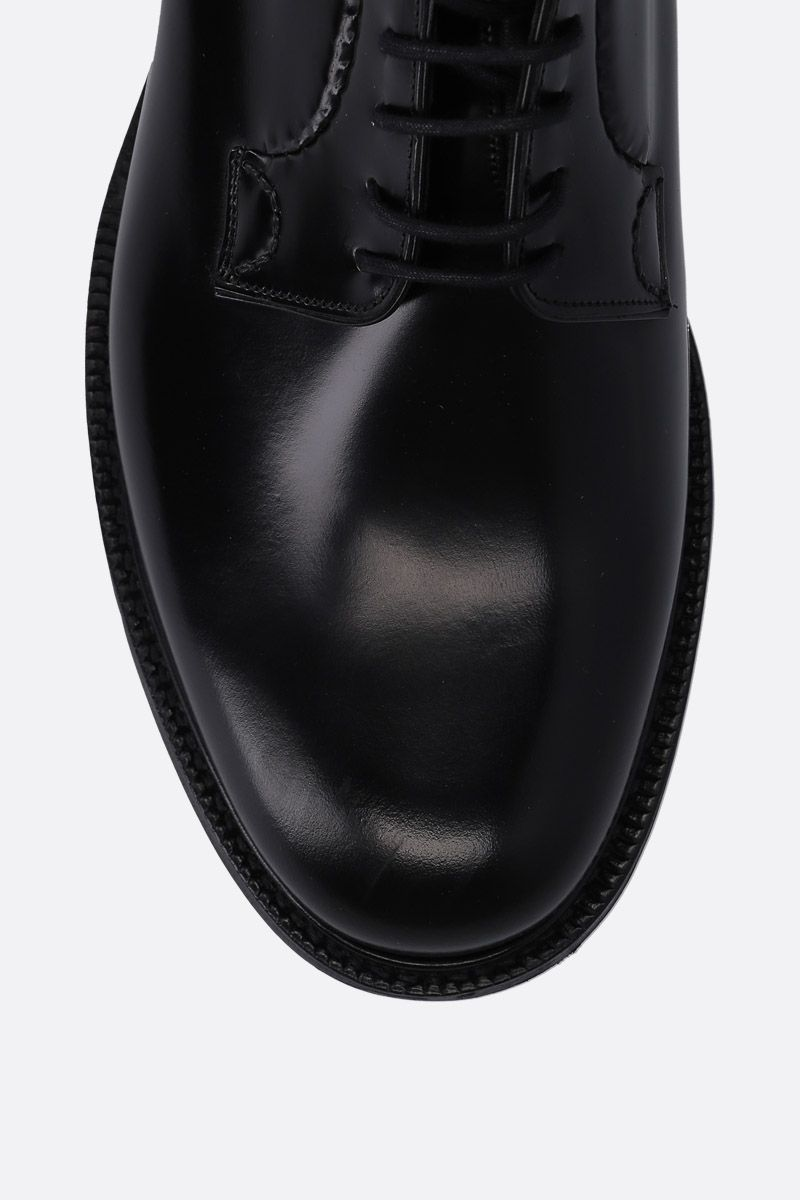 CHURCH'S: Shannon derby shoes in brushed calf Color Black_4