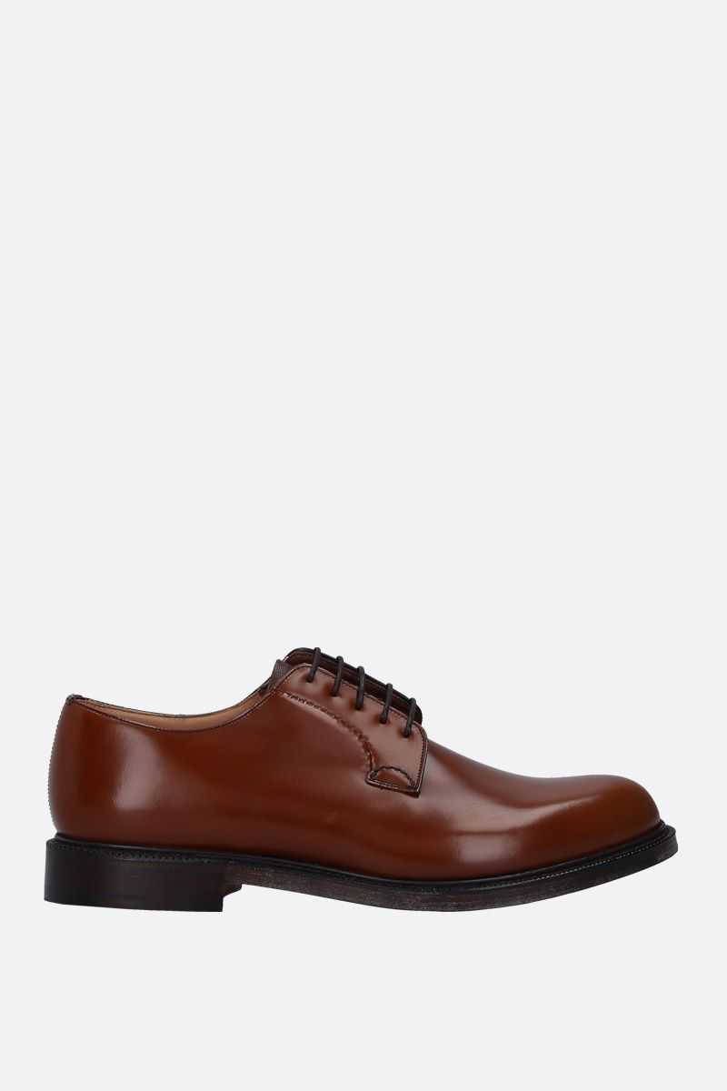 CHURCH'S: Shannon derby shoes in brushed calf Color Brown_1