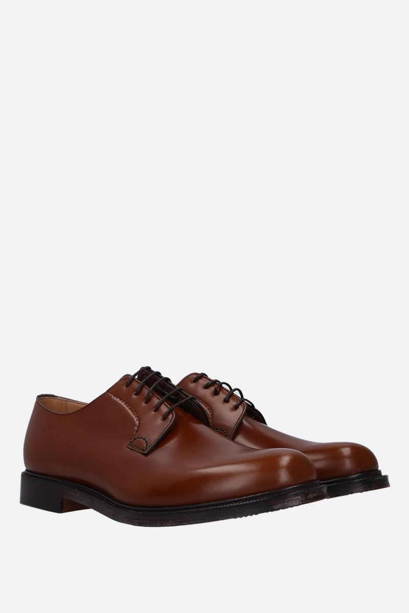 CHURCH'S: Shannon derby shoes in brushed calf Color Brown_2