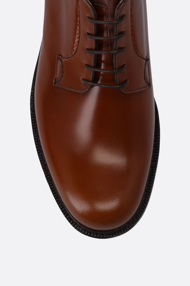 CHURCH'S: Shannon derby shoes in brushed calf Color Brown_4