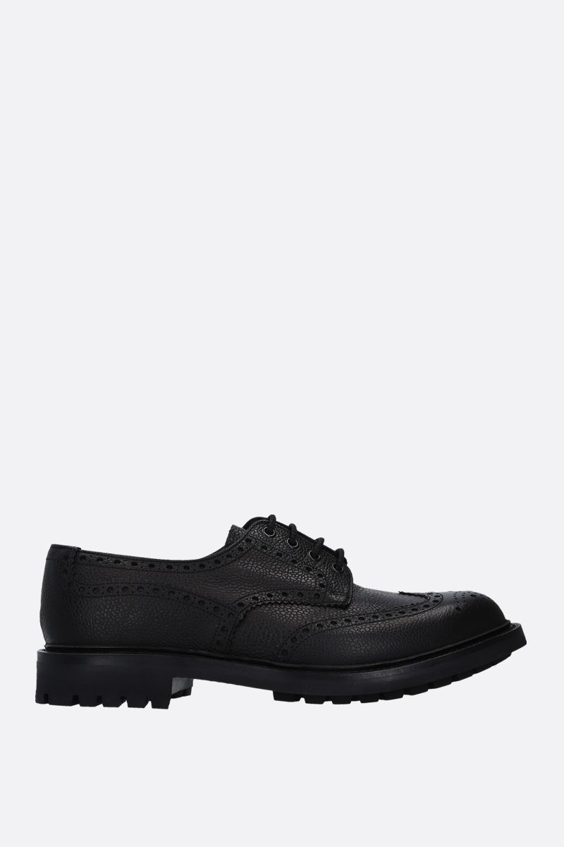 CHURCH'S: Mc Pherson derby shoes in grainy leather Color Black_1