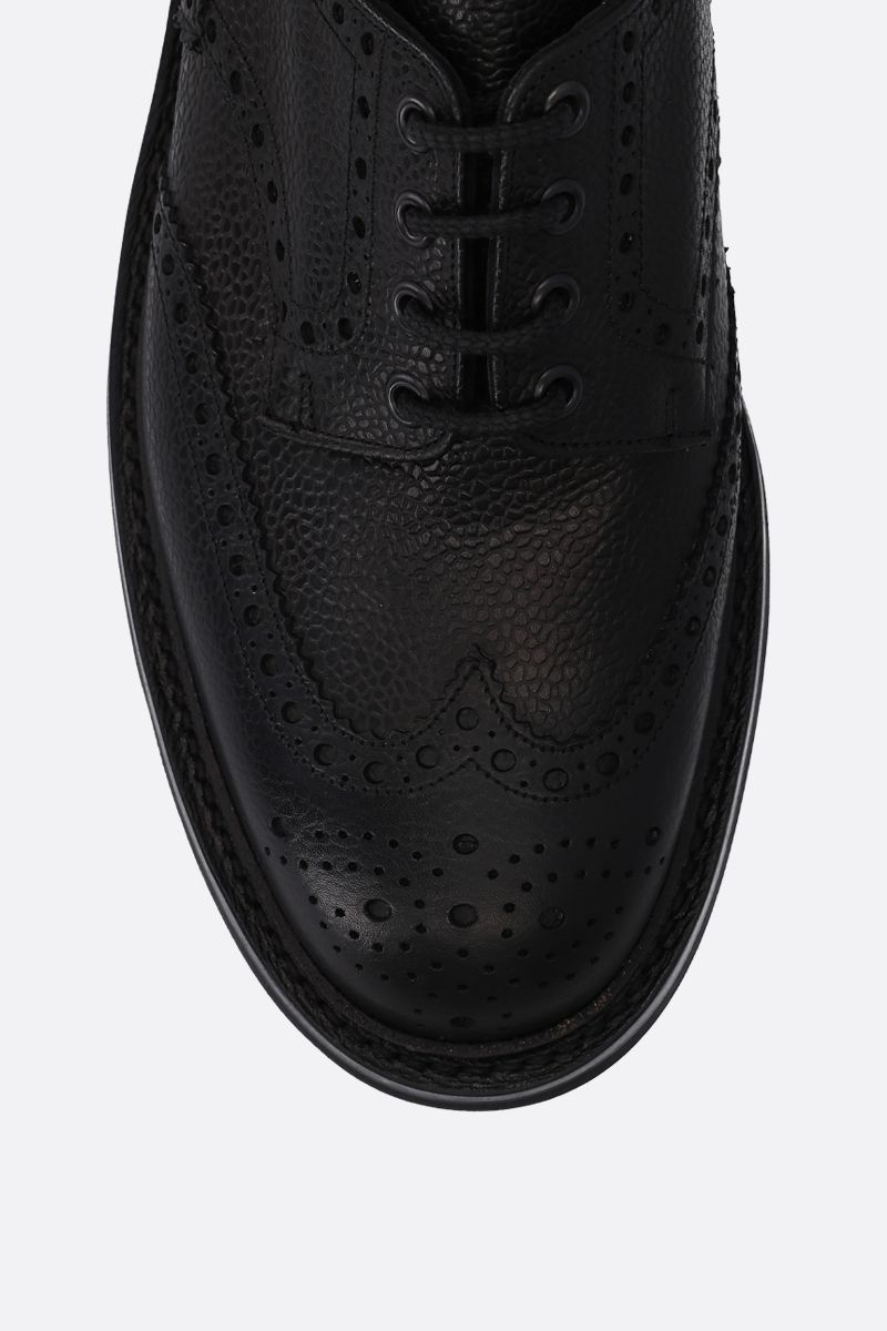 CHURCH'S: Mc Pherson derby shoes in grainy leather Color Black_4