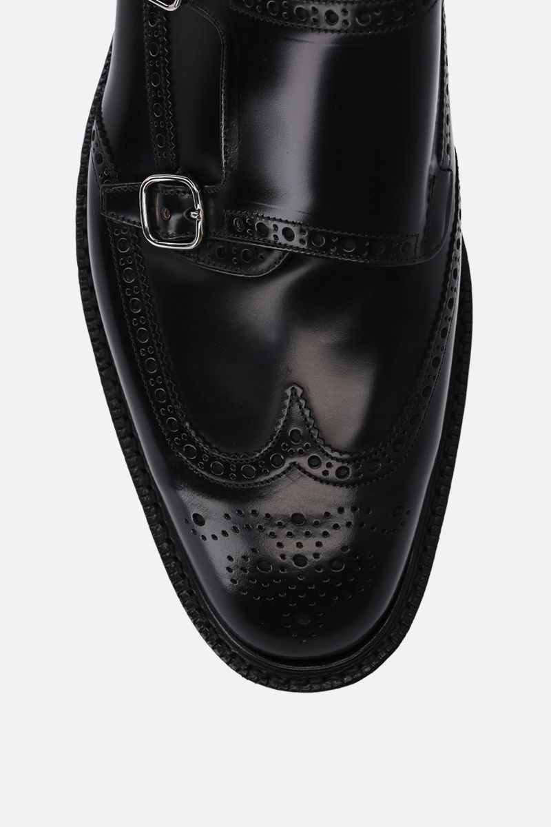 CHURCH'S: Monkton monk strap shoes in brushed calf Color Black_4