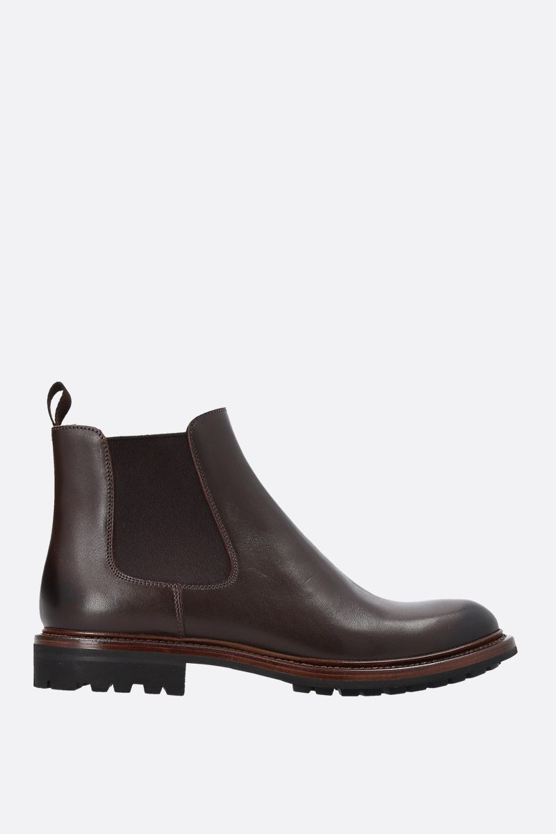 CHURCH'S: Genie chelsea boots in smooth leather Color Brown_1