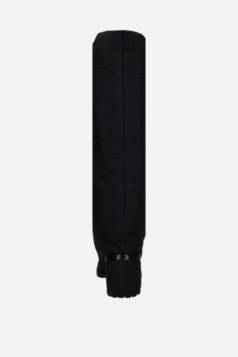 COURREGES: padded nylon pull-on boots Color Black_2
