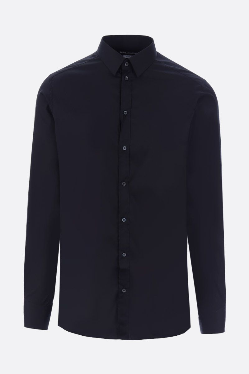 DOLCE & GABBANA: stretch poplin gold-fit shirt Color Black_1