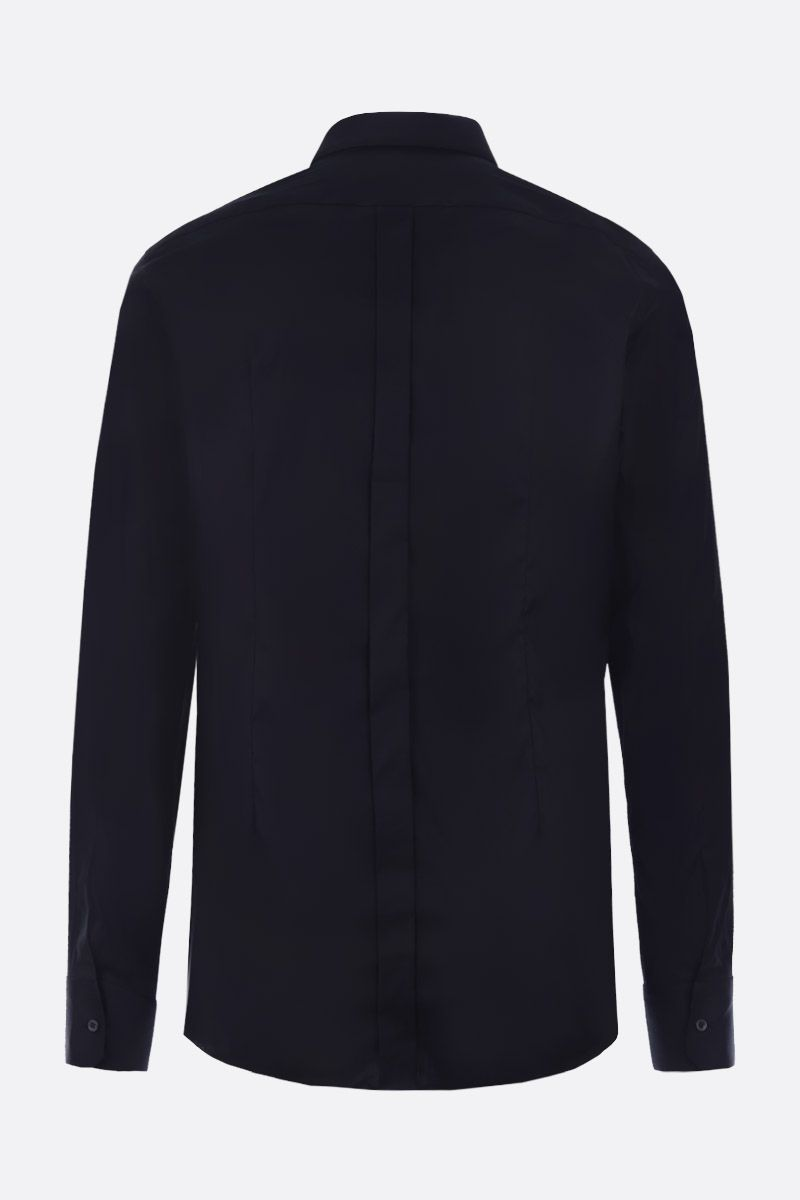 DOLCE & GABBANA: stretch poplin gold-fit shirt Color Black_2
