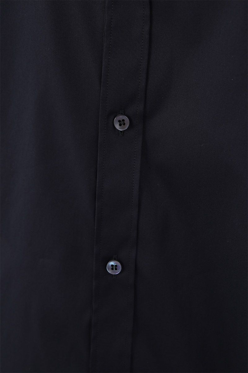 DOLCE & GABBANA: stretch poplin gold-fit shirt Color Black_3