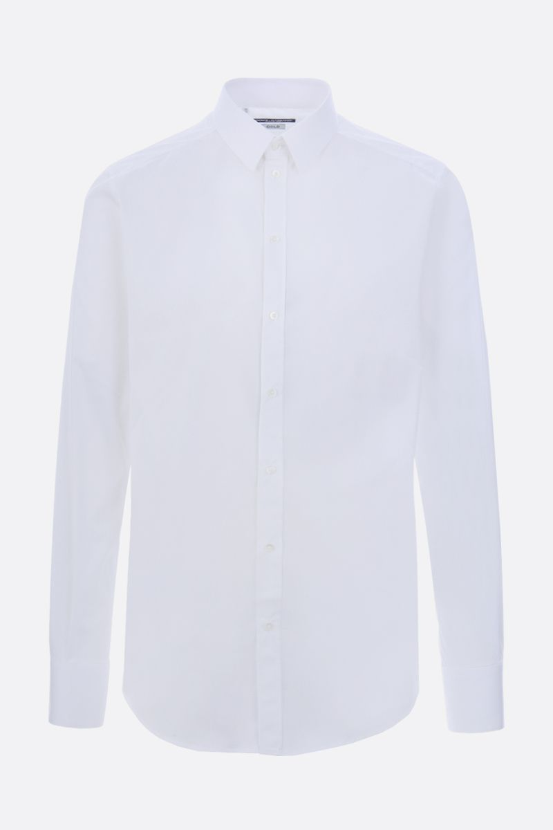 DOLCE & GABBANA: stretch poplin gold-fit shirt Color White_1