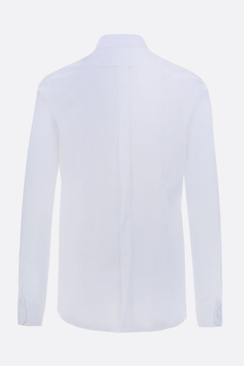DOLCE & GABBANA: stretch poplin gold-fit shirt Color White_2