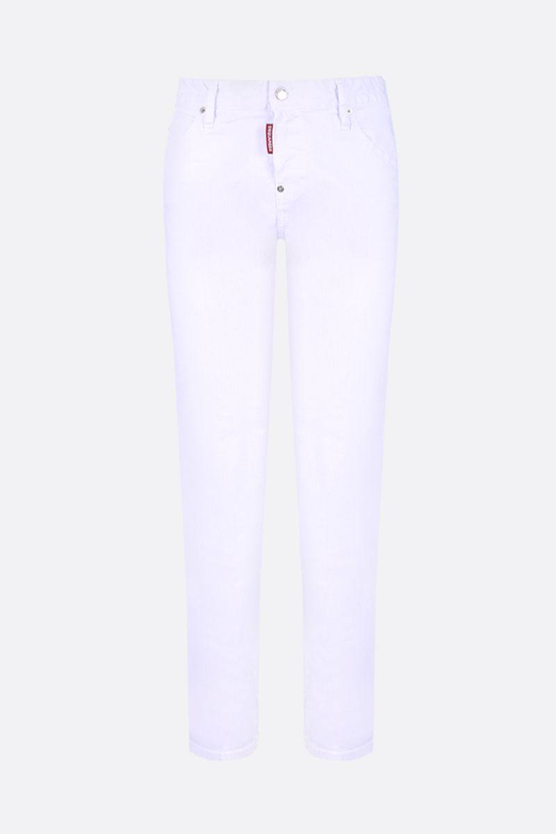 DSQUARED2: Cool Girl jeans with logo print Color White_1