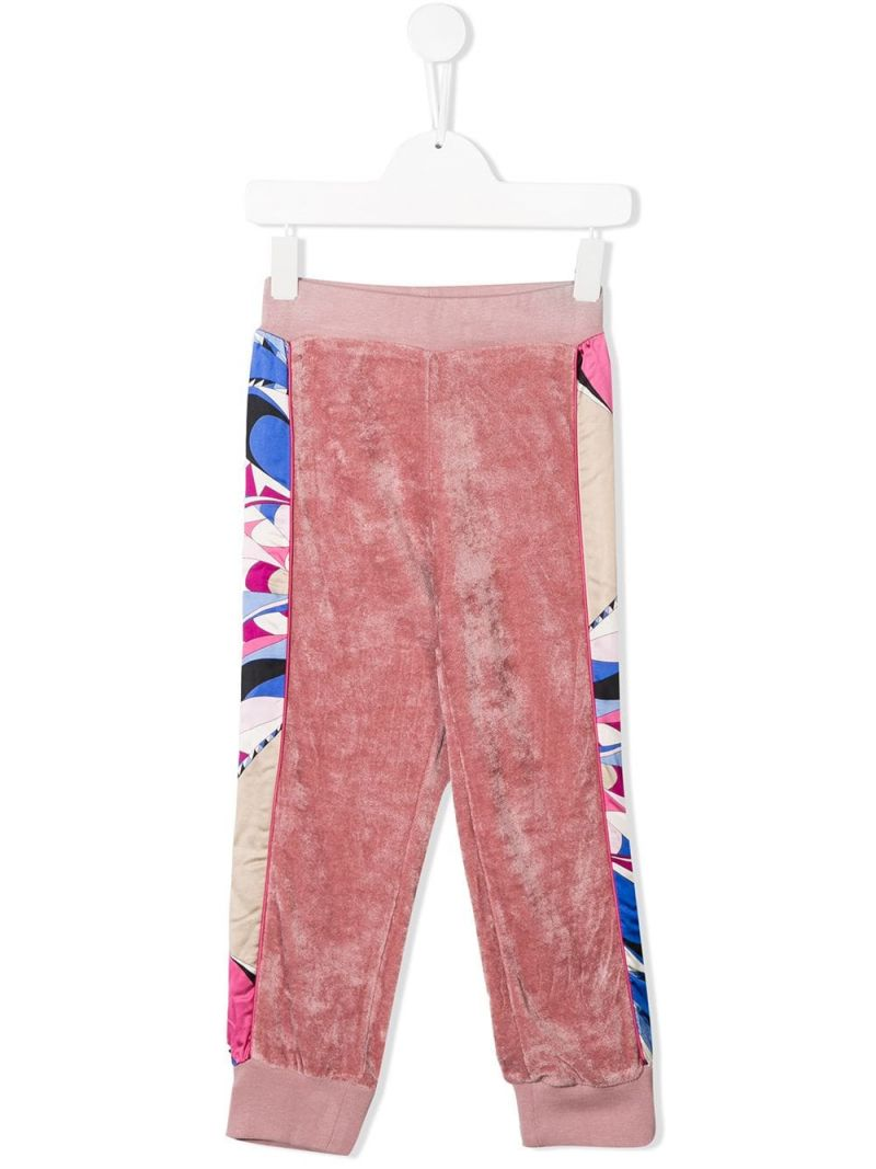 EMILIO PUCCI JUNIOR: chenille joggers with satin bands Color Pink_1