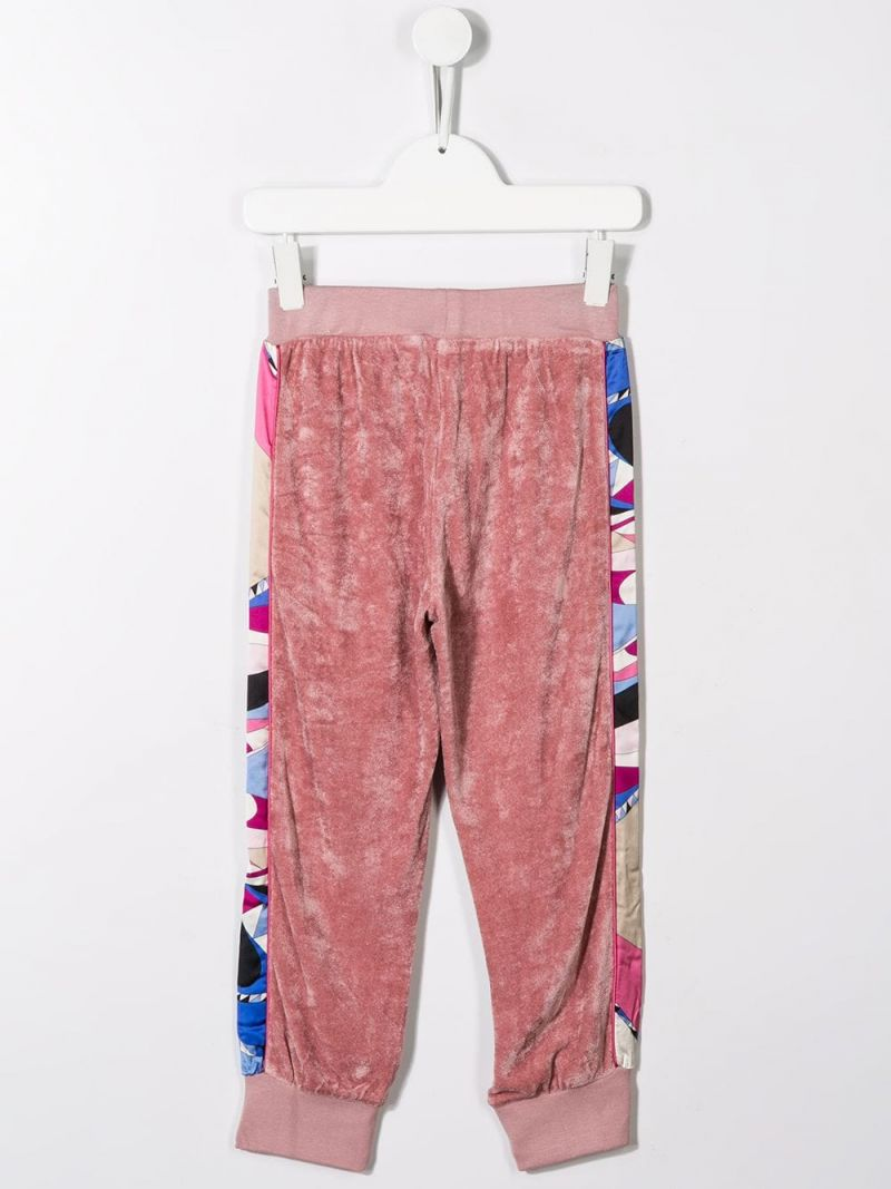 EMILIO PUCCI JUNIOR: chenille joggers with satin bands Color Pink_2