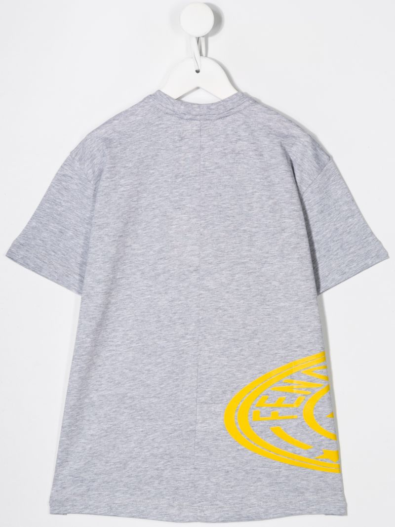 FENDI KIDS: graphic print cotton t-shirt_2
