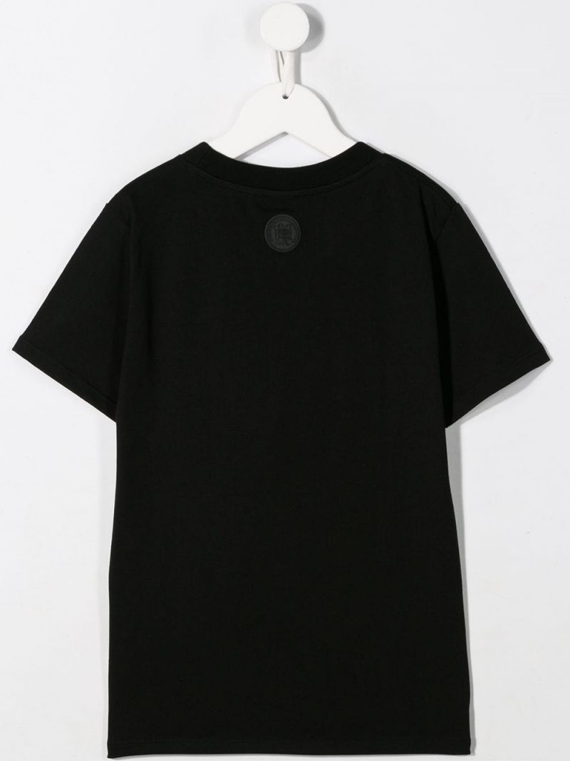 GCDS MINI: logo embroidered jersey t-shirt Color Black_2