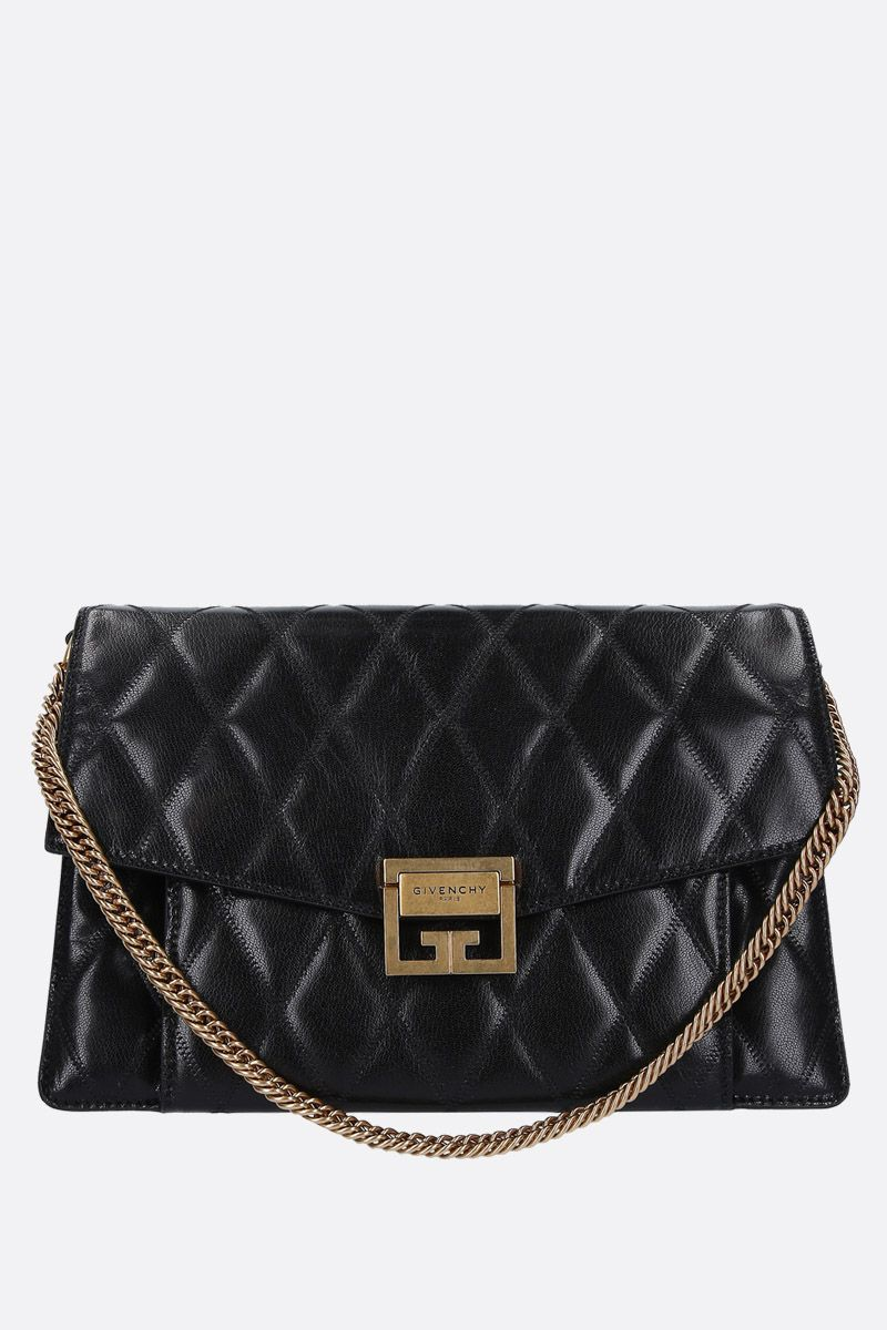 GIVENCHY: medium GV3 shoulder bag in quilted leather Color Black_1