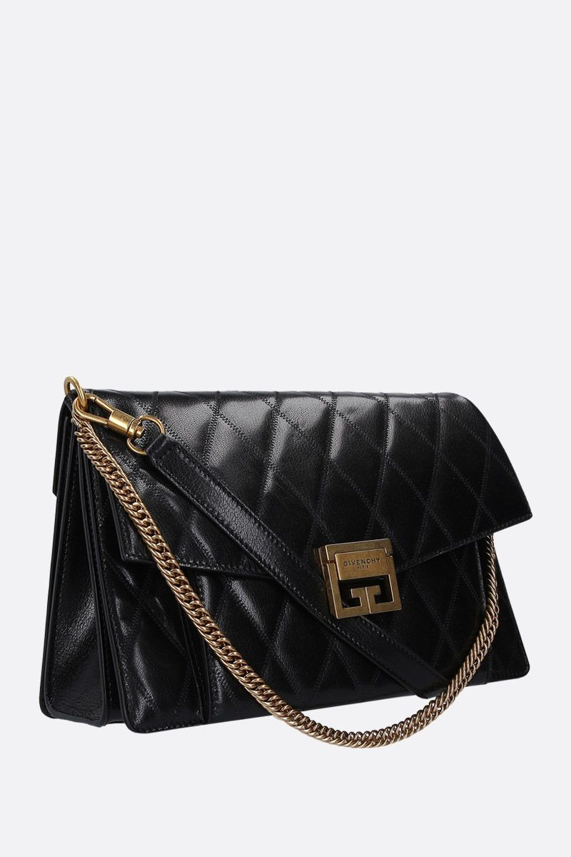 GIVENCHY: medium GV3 shoulder bag in quilted leather Color Black_2