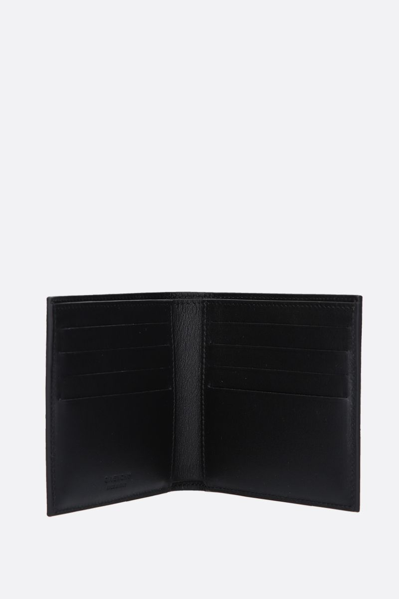 GIVENCHY: Givenchy Paris billfold wallet in smooth leather Color Black_2