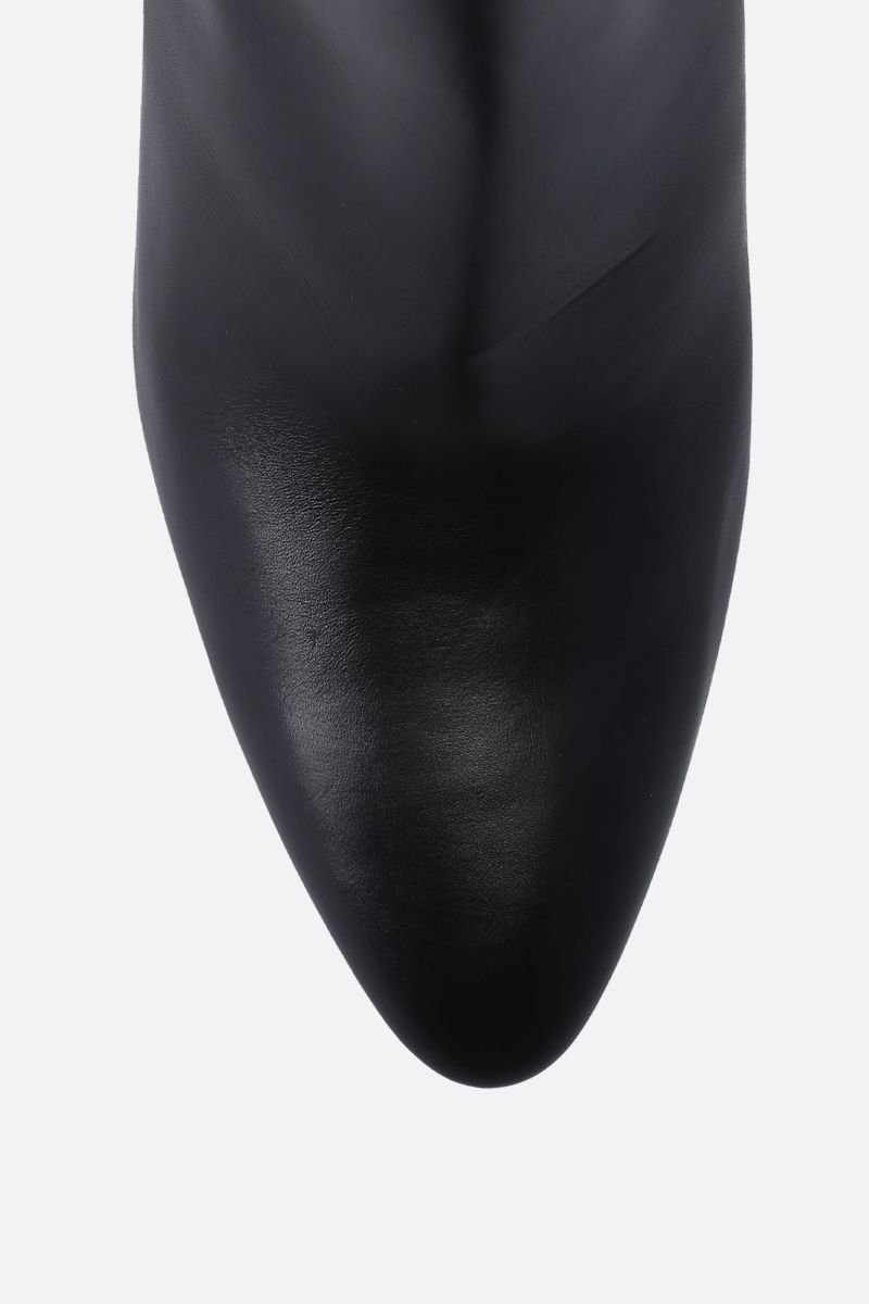 GIVENCHY: Triangle booties in smooth leather Color Black_5