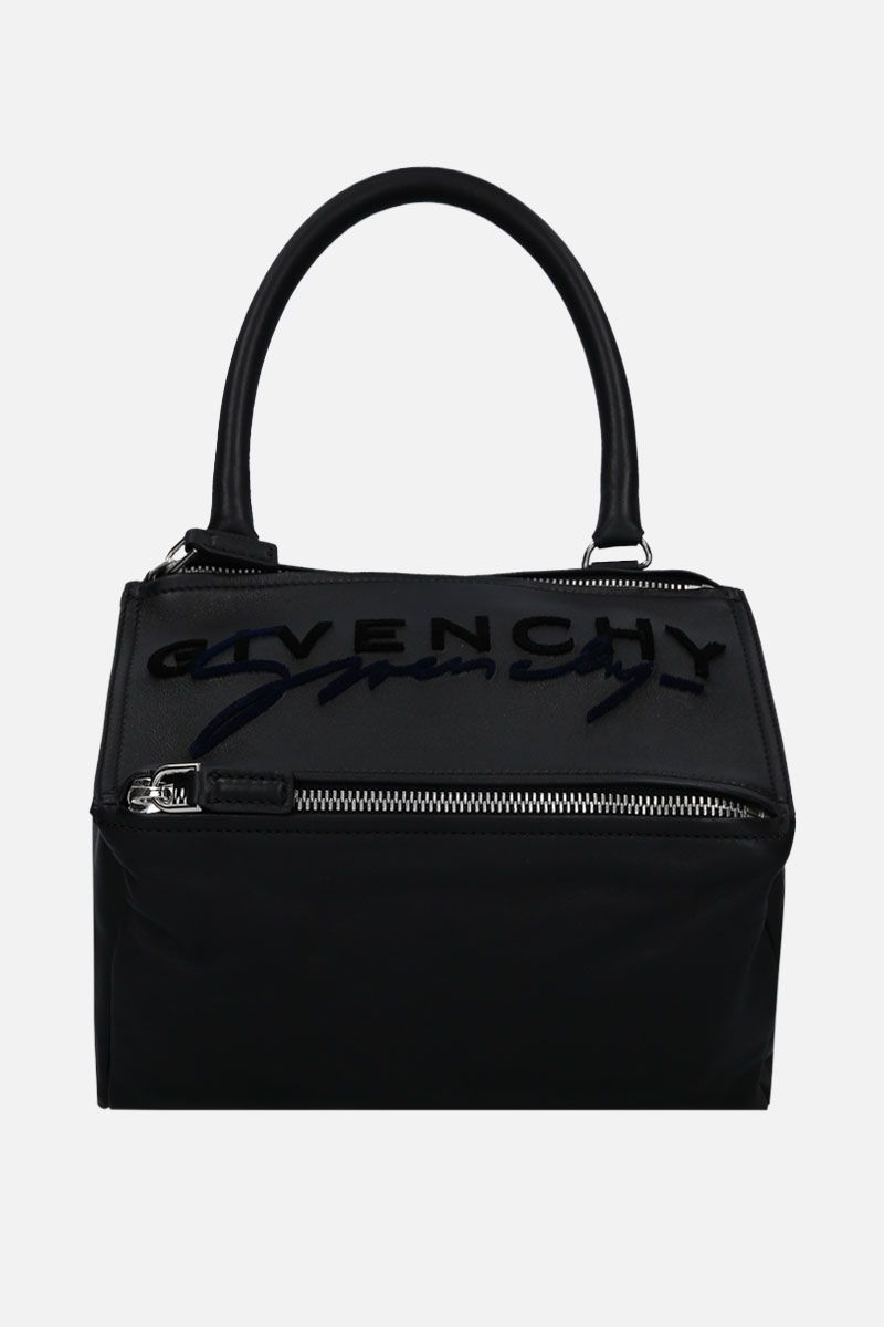 GIVENCHY: Pandora small crossbody bag in smooth leather Color Black_1