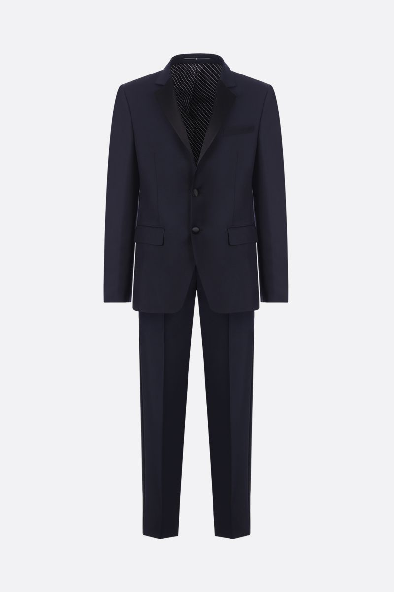 GIVENCHY: wool and mohair tuxedo suit Color Blue_1