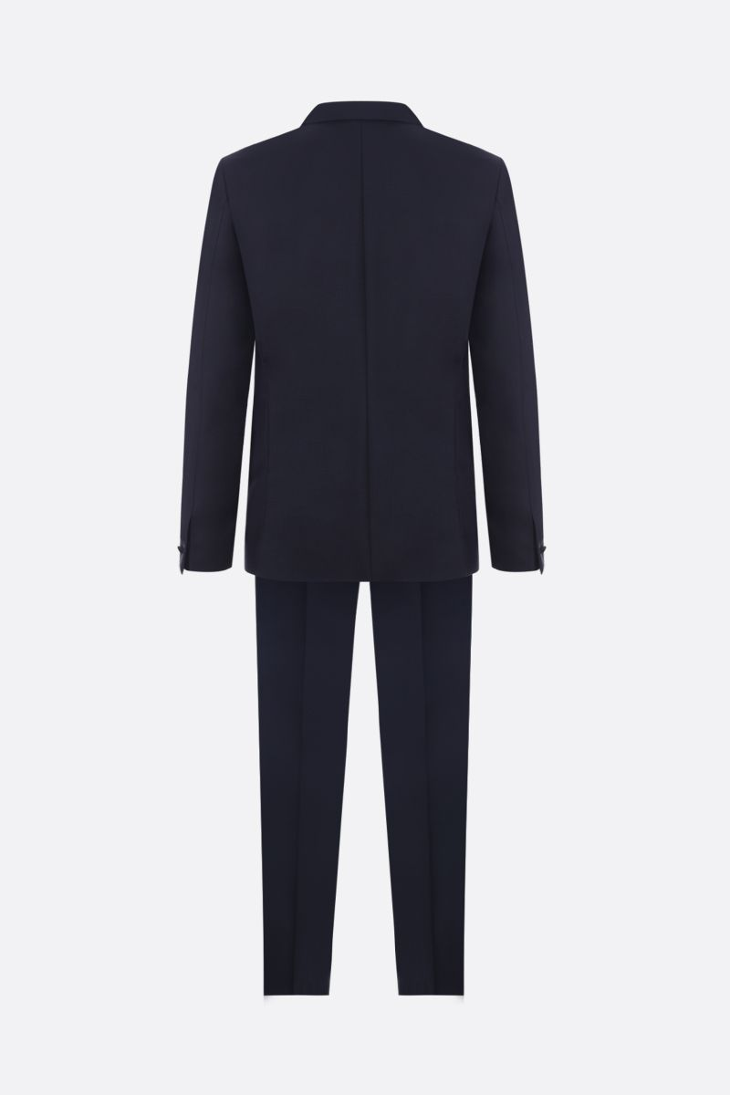 GIVENCHY: wool and mohair tuxedo suit Color Blue_2