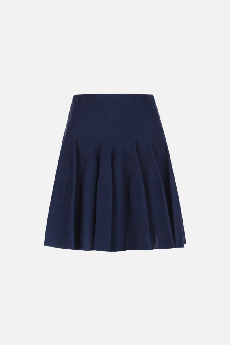 GIVENCHY: stretch knit circle skirt Color Blue_1