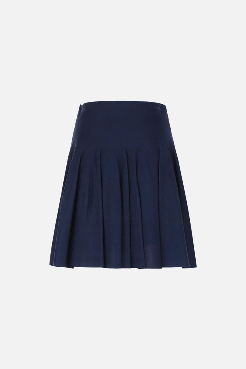 GIVENCHY: stretch knit circle skirt Color Blue_2
