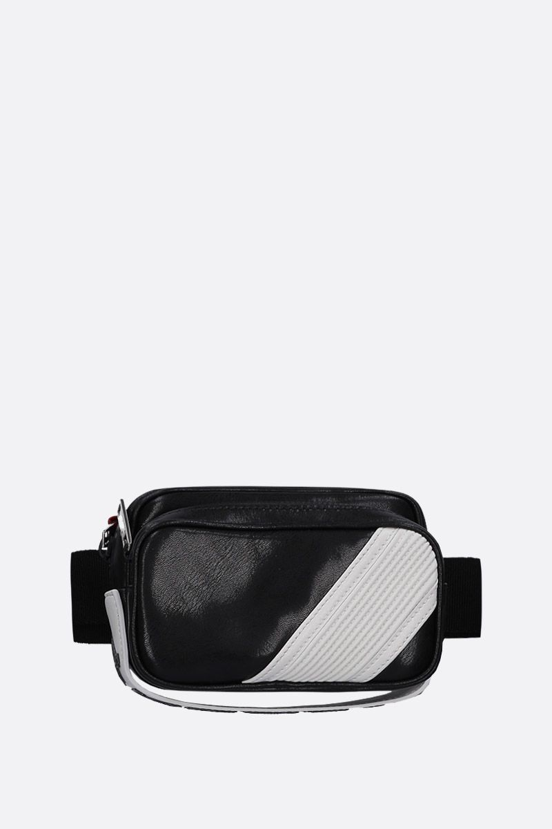 GIVENCHY: MC3 bum bag in shiny leather Color Black_1