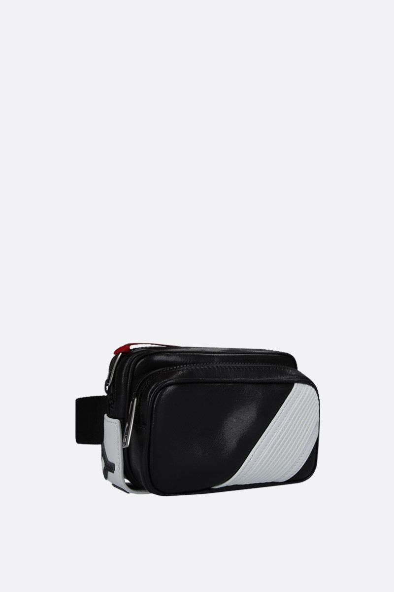 GIVENCHY: MC3 bum bag in shiny leather Color Black_2