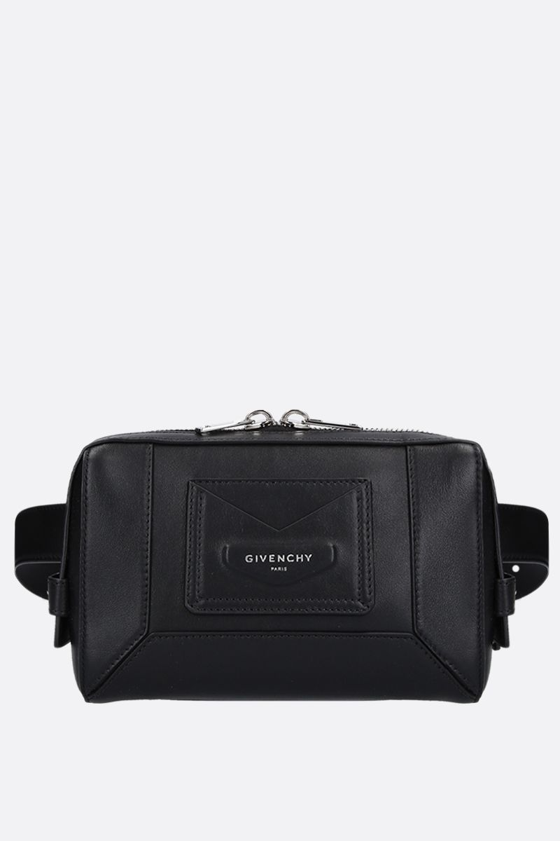 GIVENCHY: smooth leather belt bag Color Black_1