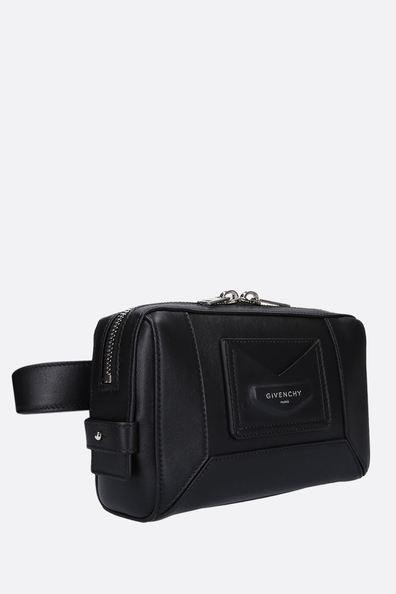 GIVENCHY: smooth leather belt bag Color Black_2