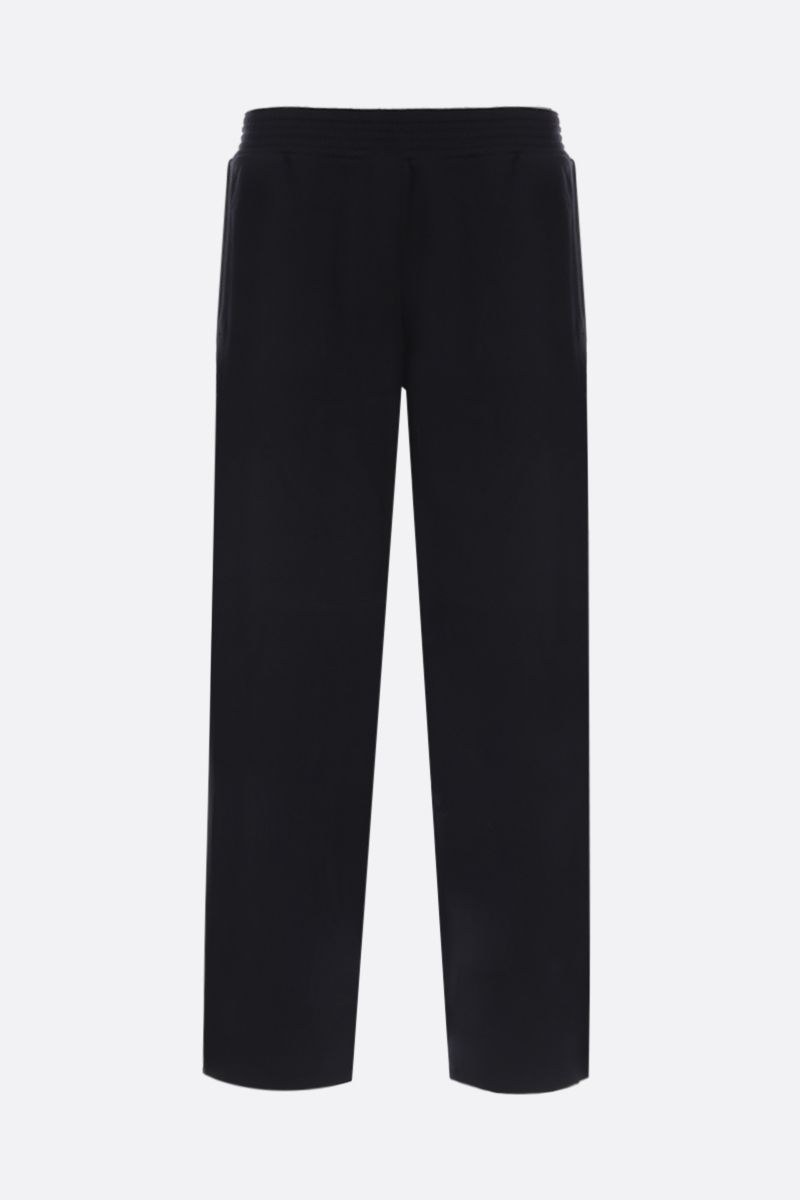 GIVENCHY: jersey joggers with logoed bands Color Black_1