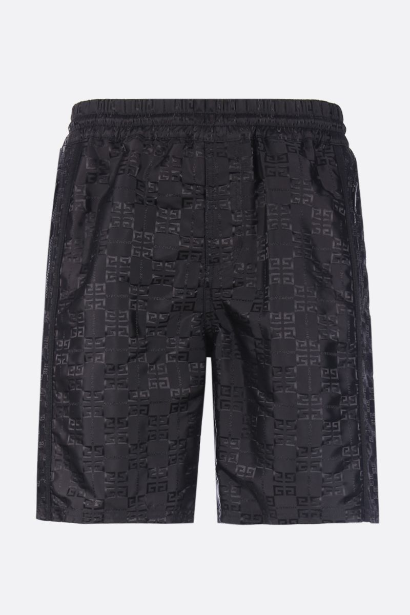 GIVENCHY: 4G nylon jacquard shorts Color Black_1