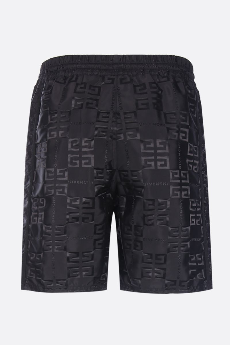 GIVENCHY: 4G nylon jacquard shorts Color Black_2