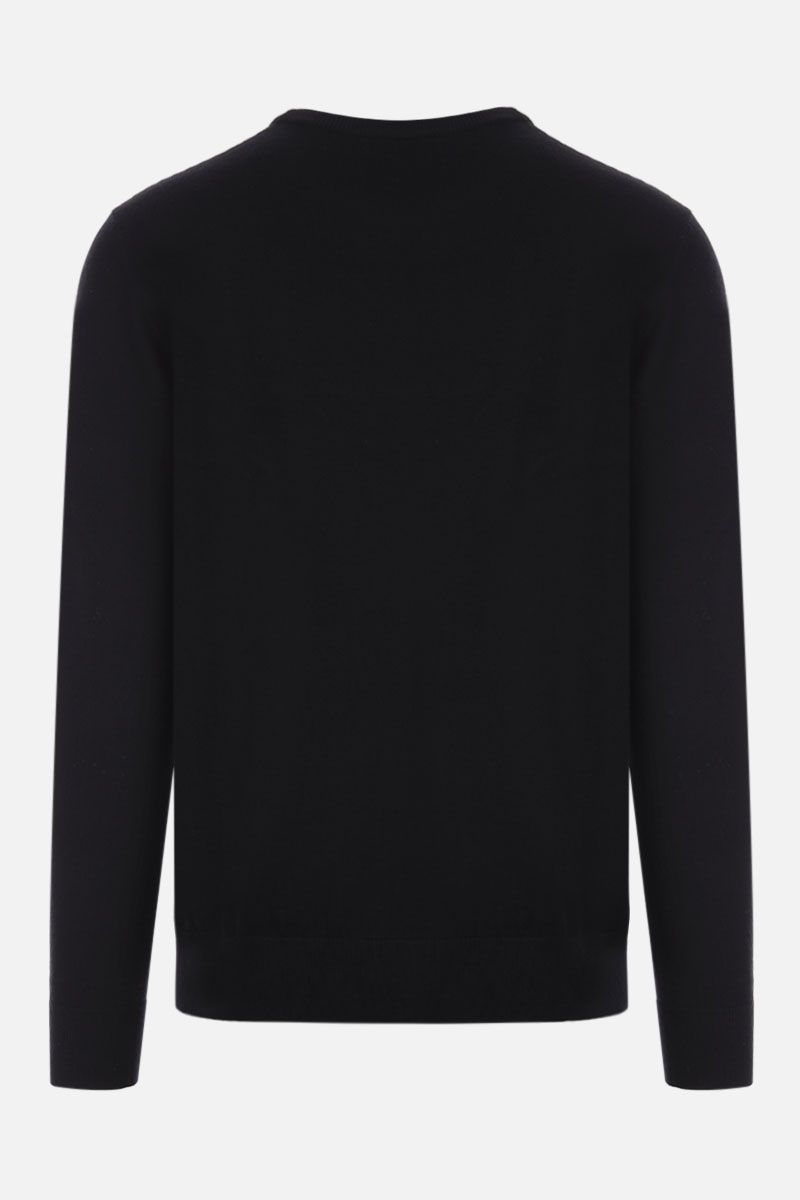 GIVENCHY: logo embroidered wool pullover Color Black_2
