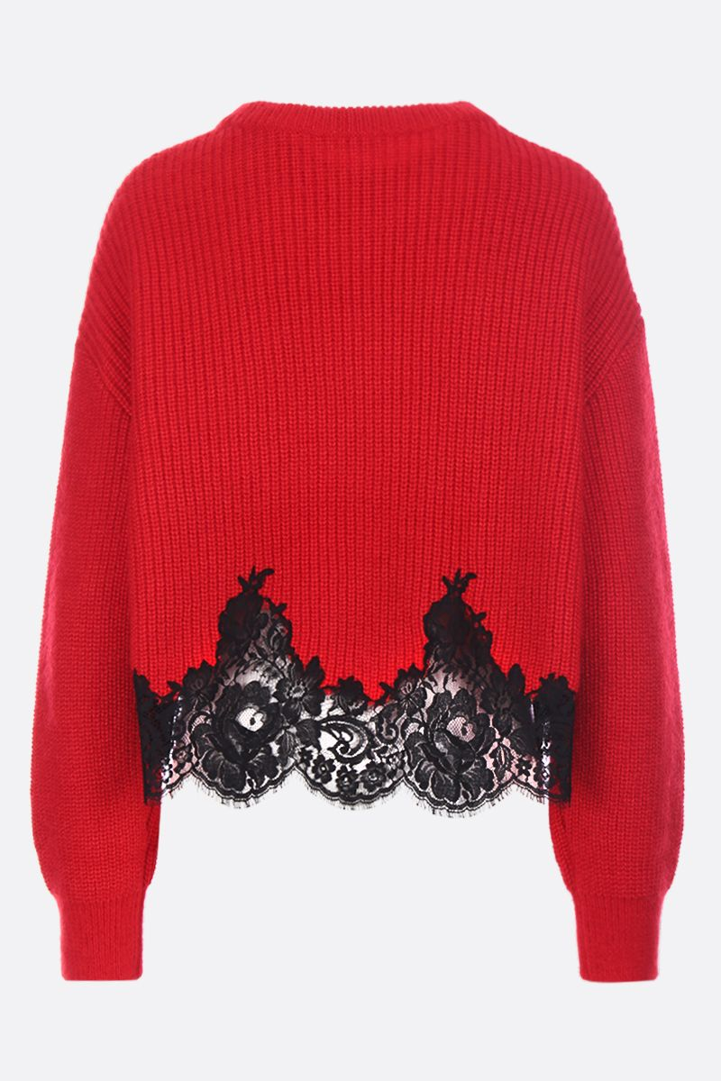 GIVENCHY: cotton and mohair blend cropped pullover Color Black_2