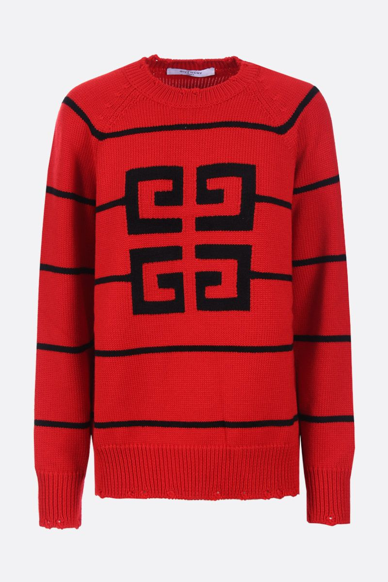 GIVENCHY: 4G intarsia wool blend pullover Color Black_1