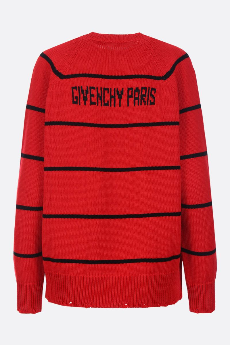 GIVENCHY: 4G intarsia wool blend pullover Color Black_2