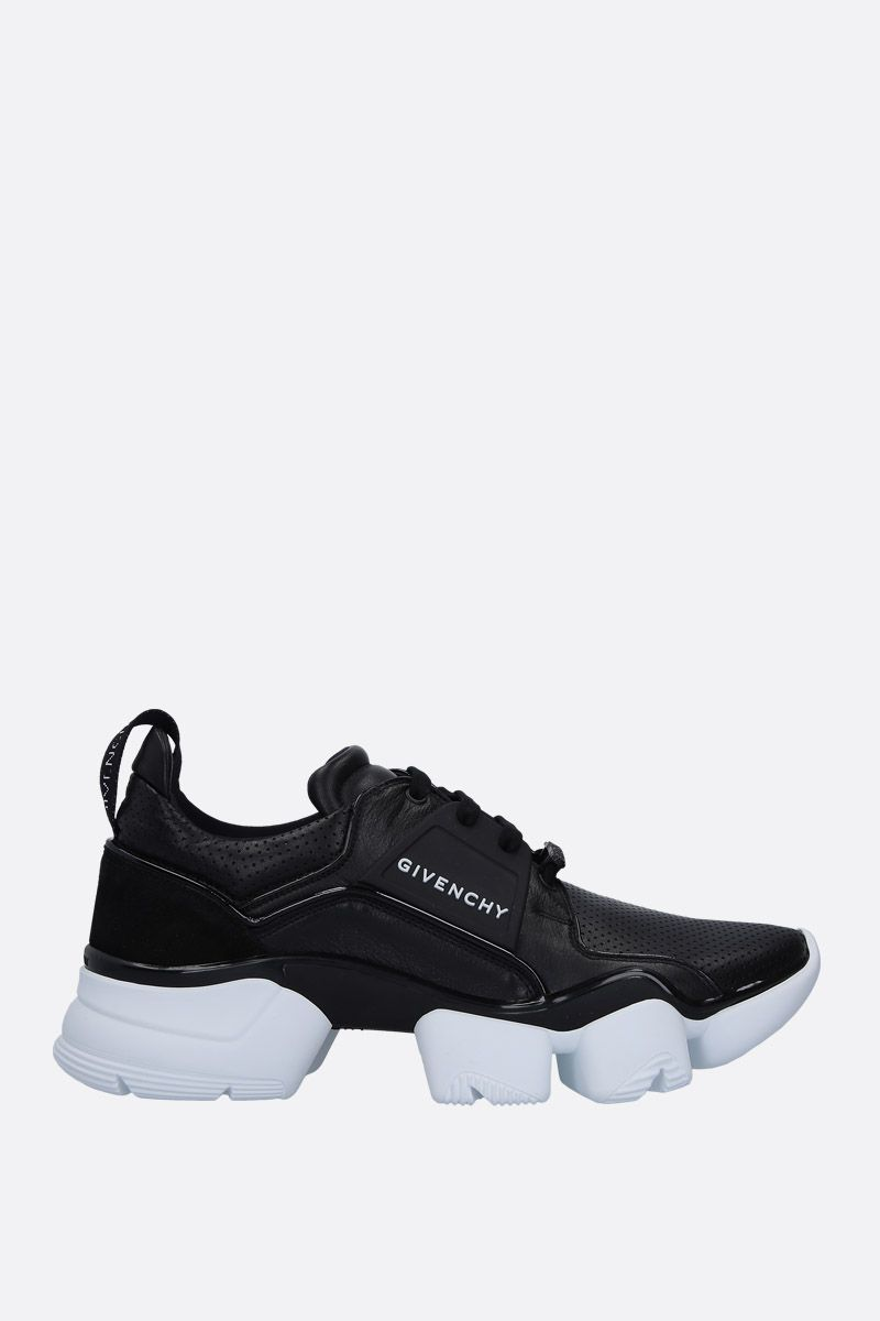 GIVENCHY: sneaker Jaw in pelle e suede Colore Nero_1