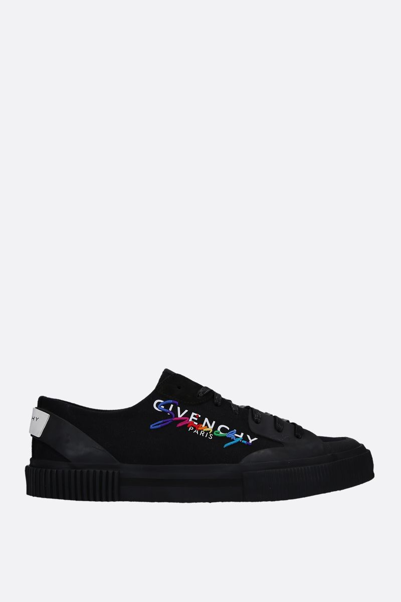 GIVENCHY: sneaker low-top Tennis Light in canvas Colore Multicolore_1