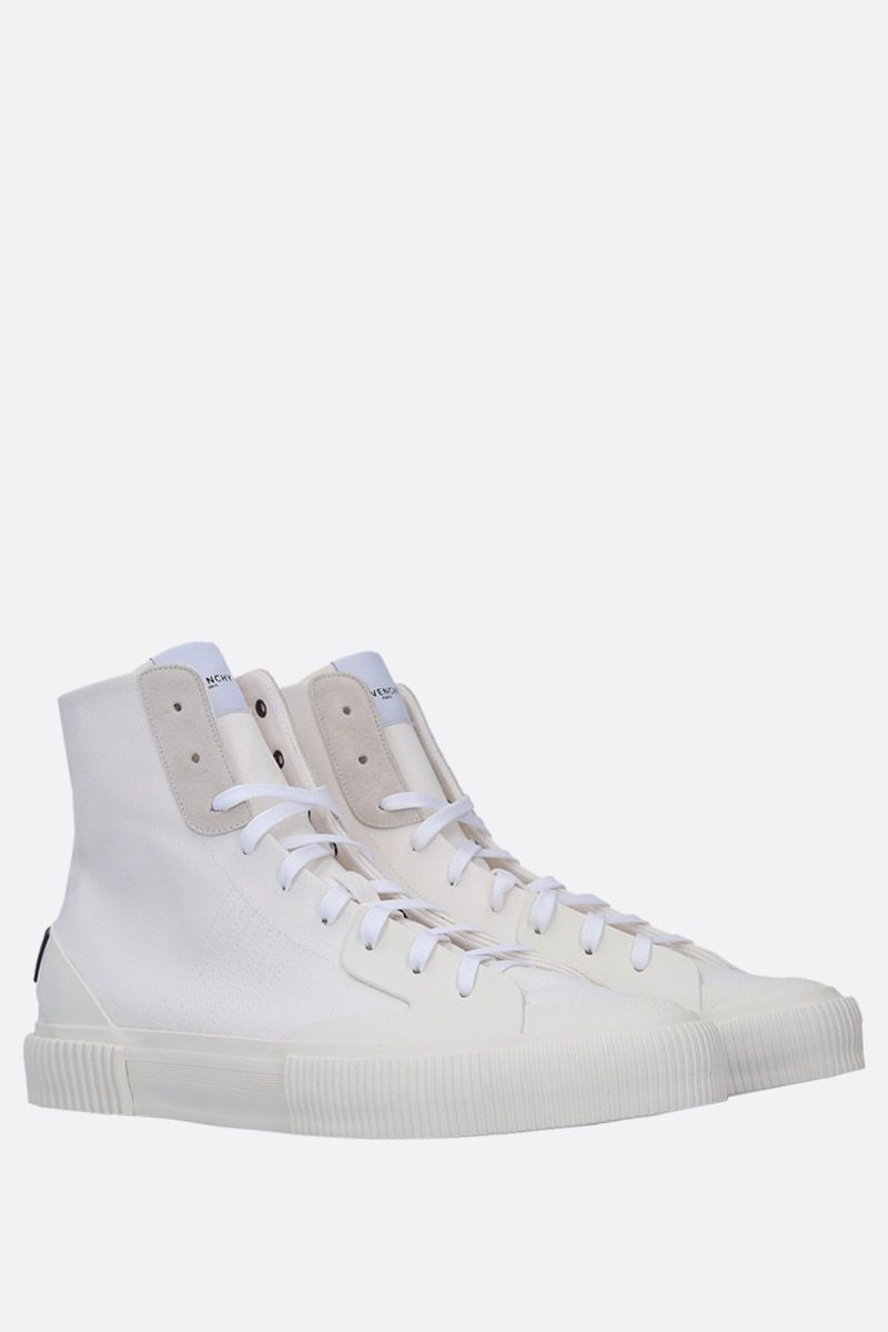 GIVENCHY: sneaker high-top Tennis Light in canvas Colore Bianco_2