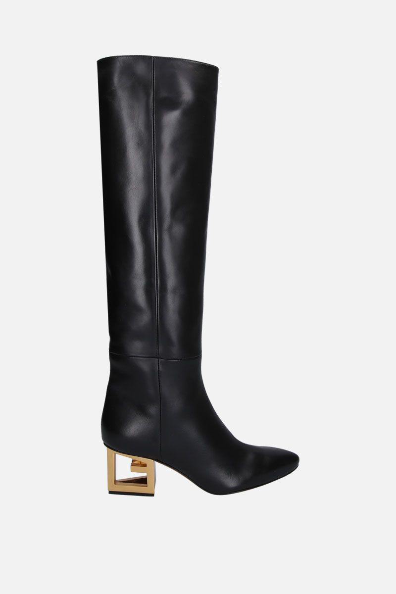 GIVENCHY: Triangle boots in smooth leather Color Black_1
