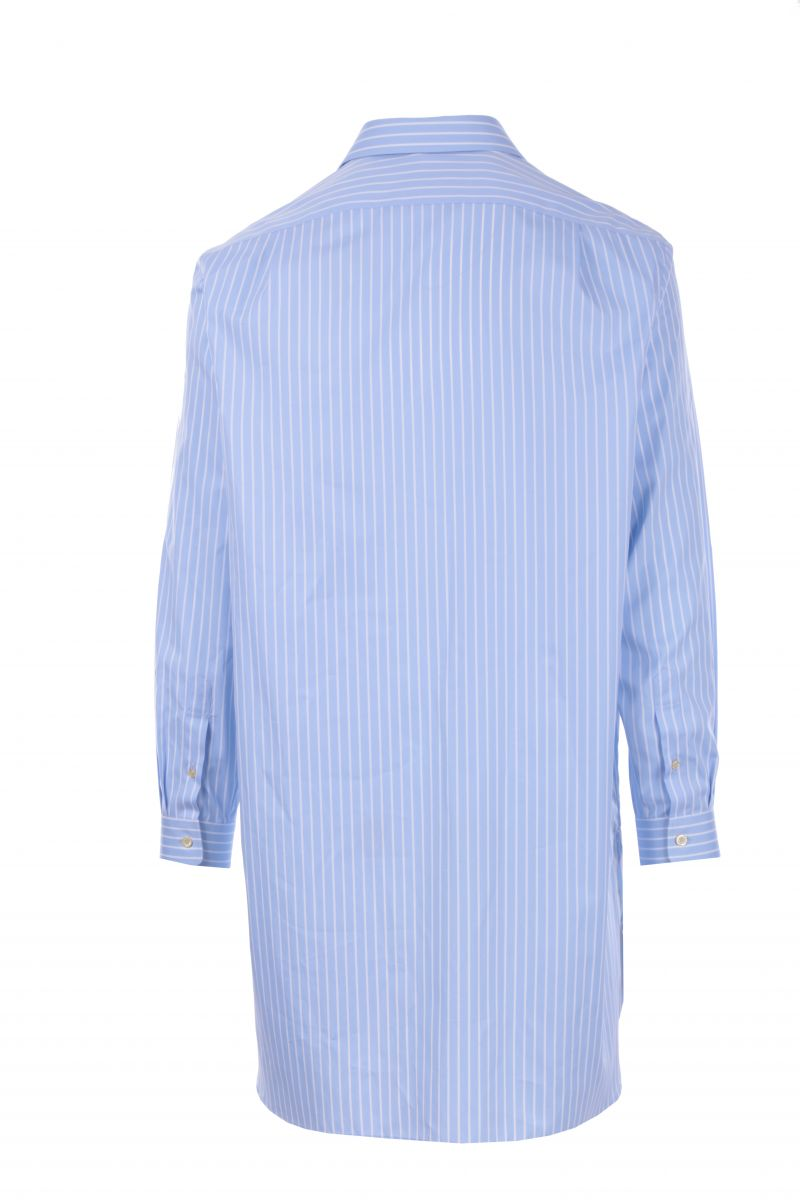 GUCCI: oversized striped poplin shirt Color Blue_2