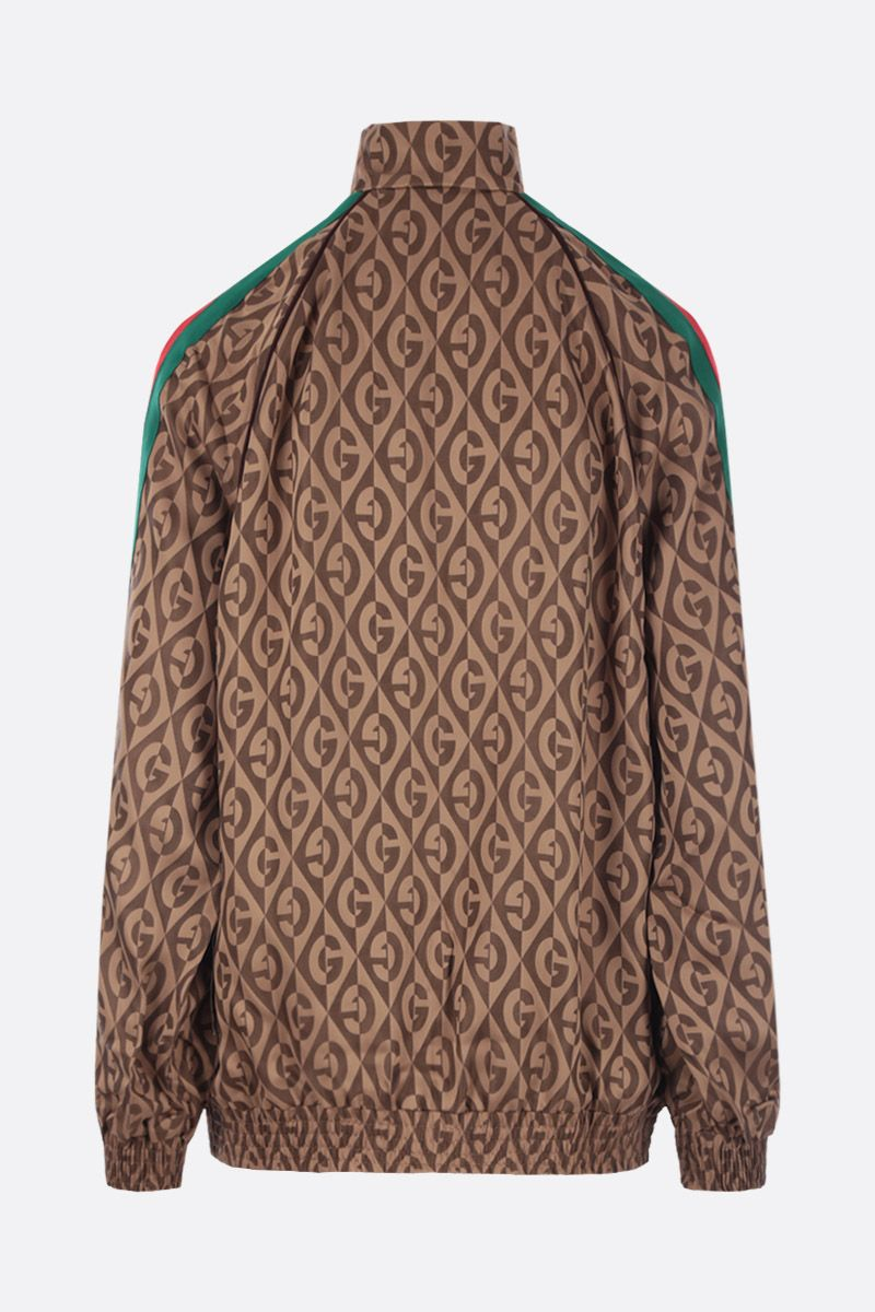 GUCCI: G rhombus jacquard bomber jacket Color Brown_2